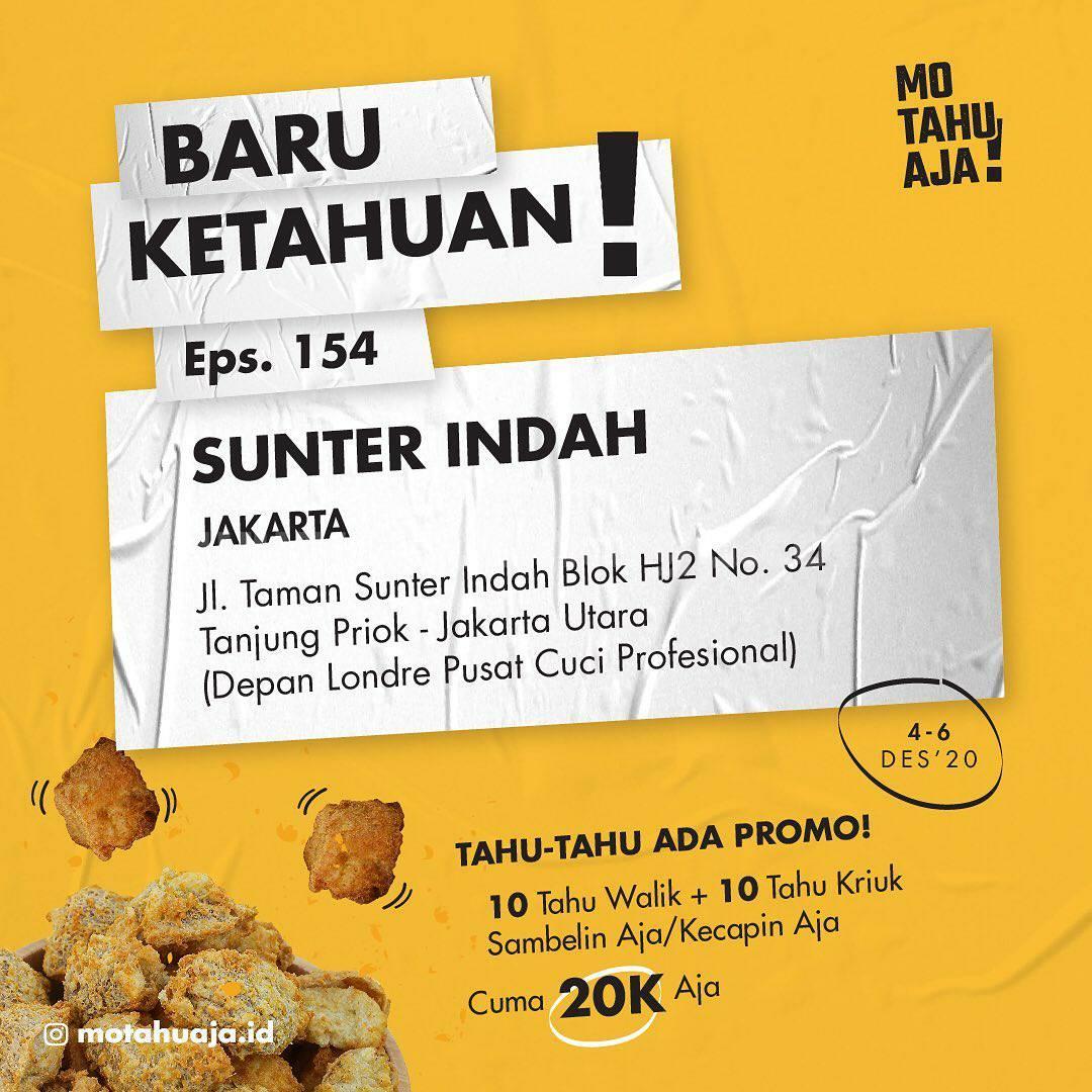 MO TAHU AJA Sunter Indah Jakarta Opening Promo Paket 20 Tahu cuma Rp 20.000