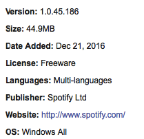 Download Spotify Latest Version Offline Installer