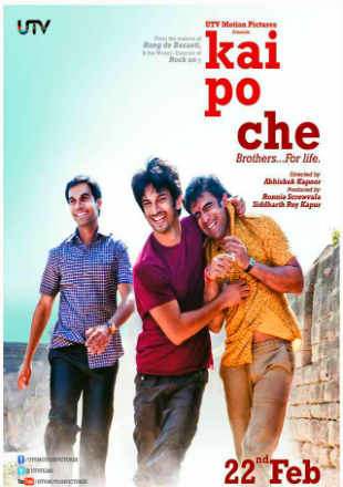 Kai Po Che 2013 DVDRip 850MB Full Hindi Movie Download 720p Watch Online free bolly4u