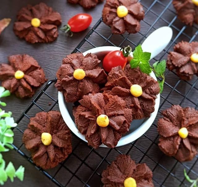 Resep Kue Semprit Jadul Coklat Renyah