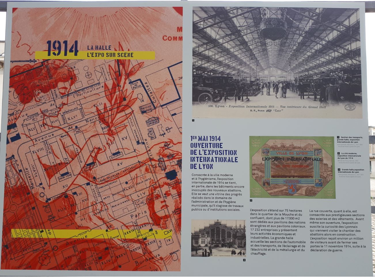 Halle de Lyon - Exposition internationale 1914