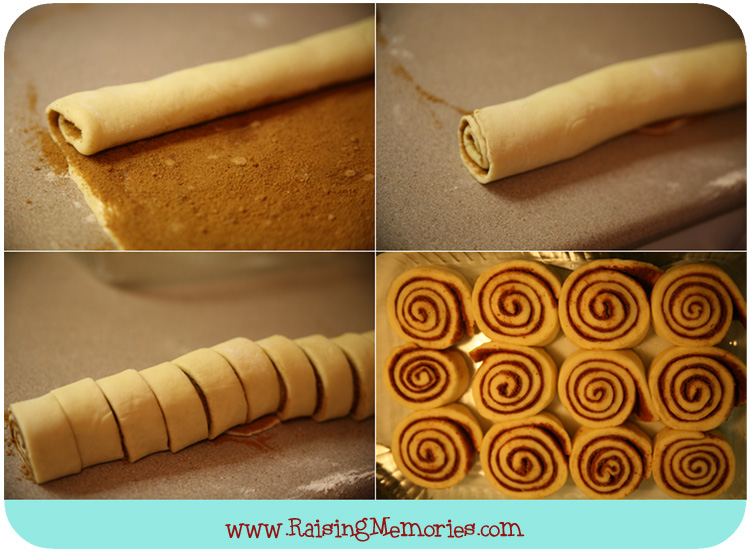 Rolling Cinnabons - Tutorial by www.RaisingMemories.com