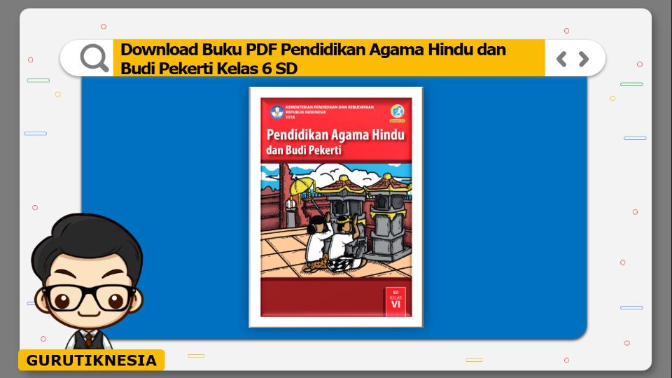 download buku pdf pendidikan agama hindu dan budi pekerti kelas 6 sd