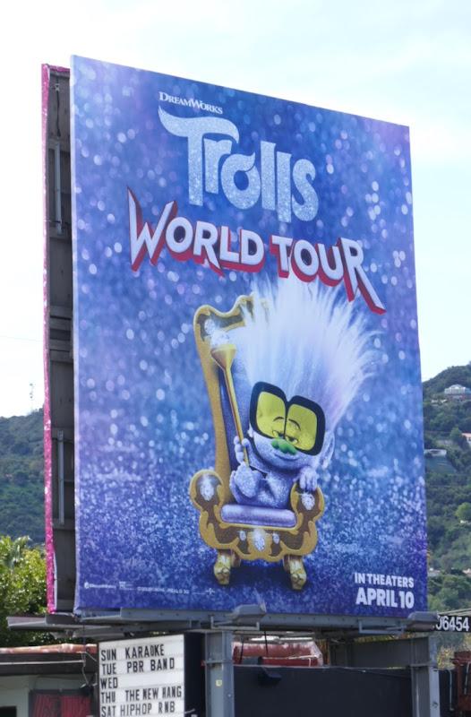 Tiny Diamond Trolls World Tour film billboard