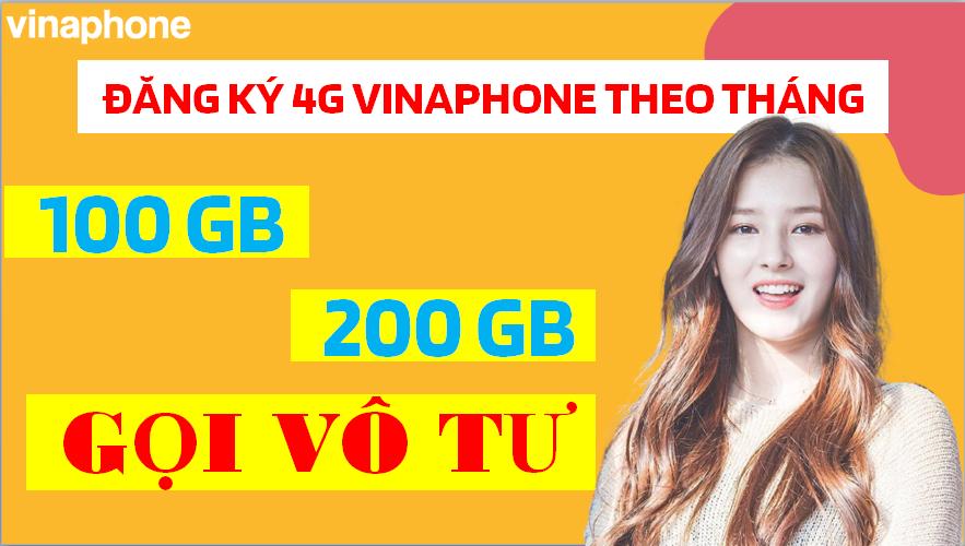 Đăng ký 4G Vinaphone Theo Tháng