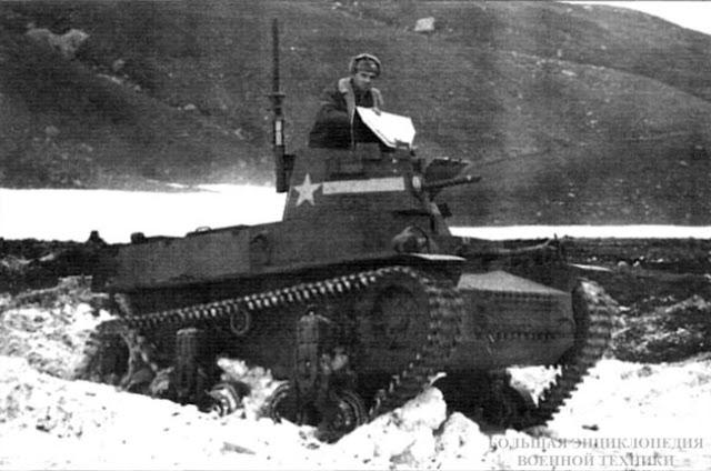 Танк CTLS-4TAC в снегах Аляски. 1942 г.