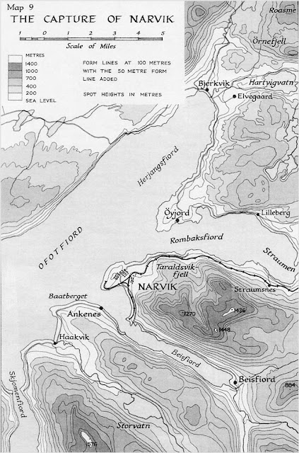 Map of Battle of Narvik 1940 worldwartwo.filminspector.com
