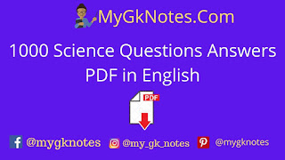 1000 Science Questions Answers PDF in English