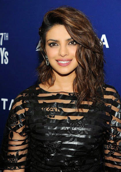 Priyanka Chopra in Black Mini-dress at Grammy Party