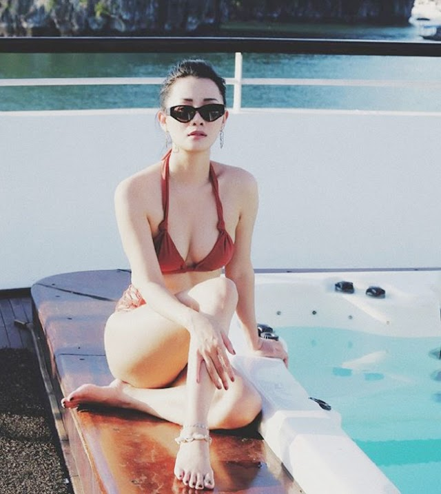 """MC Quynh Chi, """"Philippine television goddess"""" makes the beginning of summer a record hot summer with bikini"""