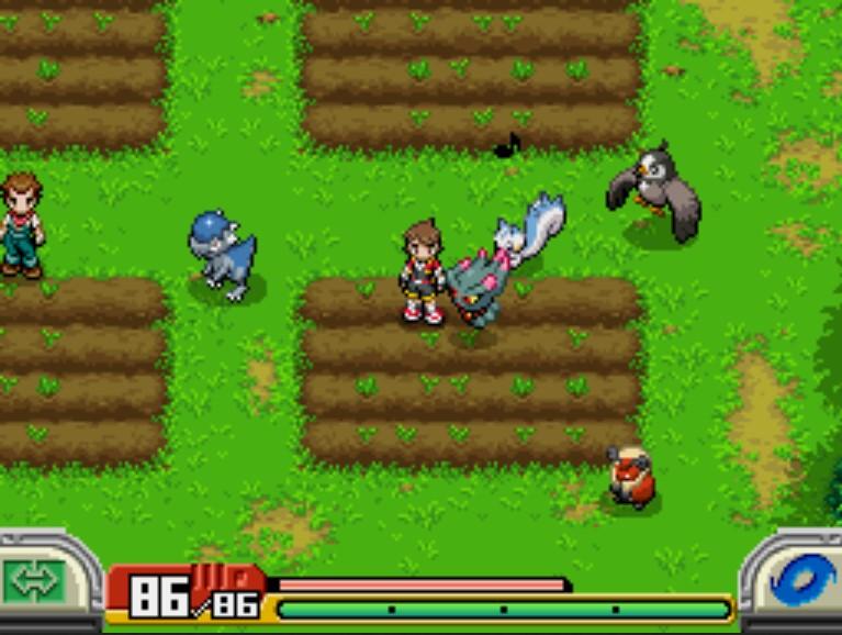 Pokémon Ranger: Shadow of Almia - Partner Pokémon