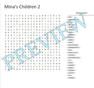 Word search with a blurred word list and the title Preview over the top