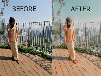 Edit Gambar Guna Lightroom Orange Mood Presets