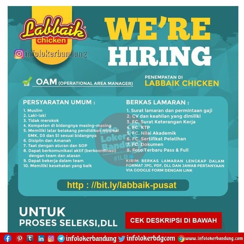 Lowongan Kerja Labbaik Chicken Bandung April 2021