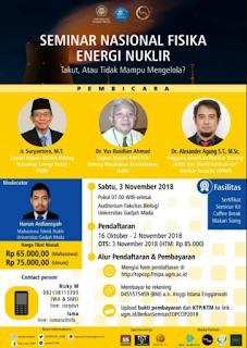 Seminar Nasional Energi Nuklir 2018 di UGM