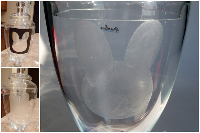 Jar+Collage Etched Easter Apothecary Jar 8