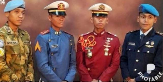 Luar Biasa, 4 Kakak Beradik Sama-Sama Jadi Perwira TNI-Polri