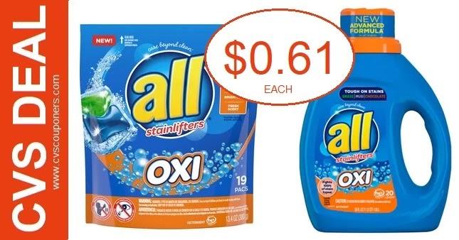 Cheap All Laundry Detergent CVS Deals 7-18-7-24