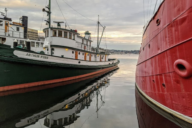 Seattle in a day: Boats at Lake Union Park