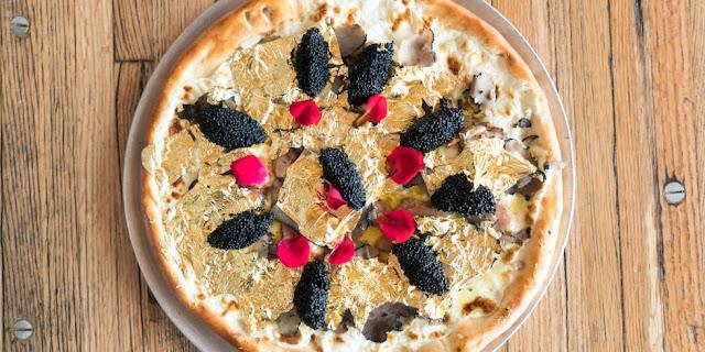 pizza termahal di dunia dengan lapisan emas 24 karat