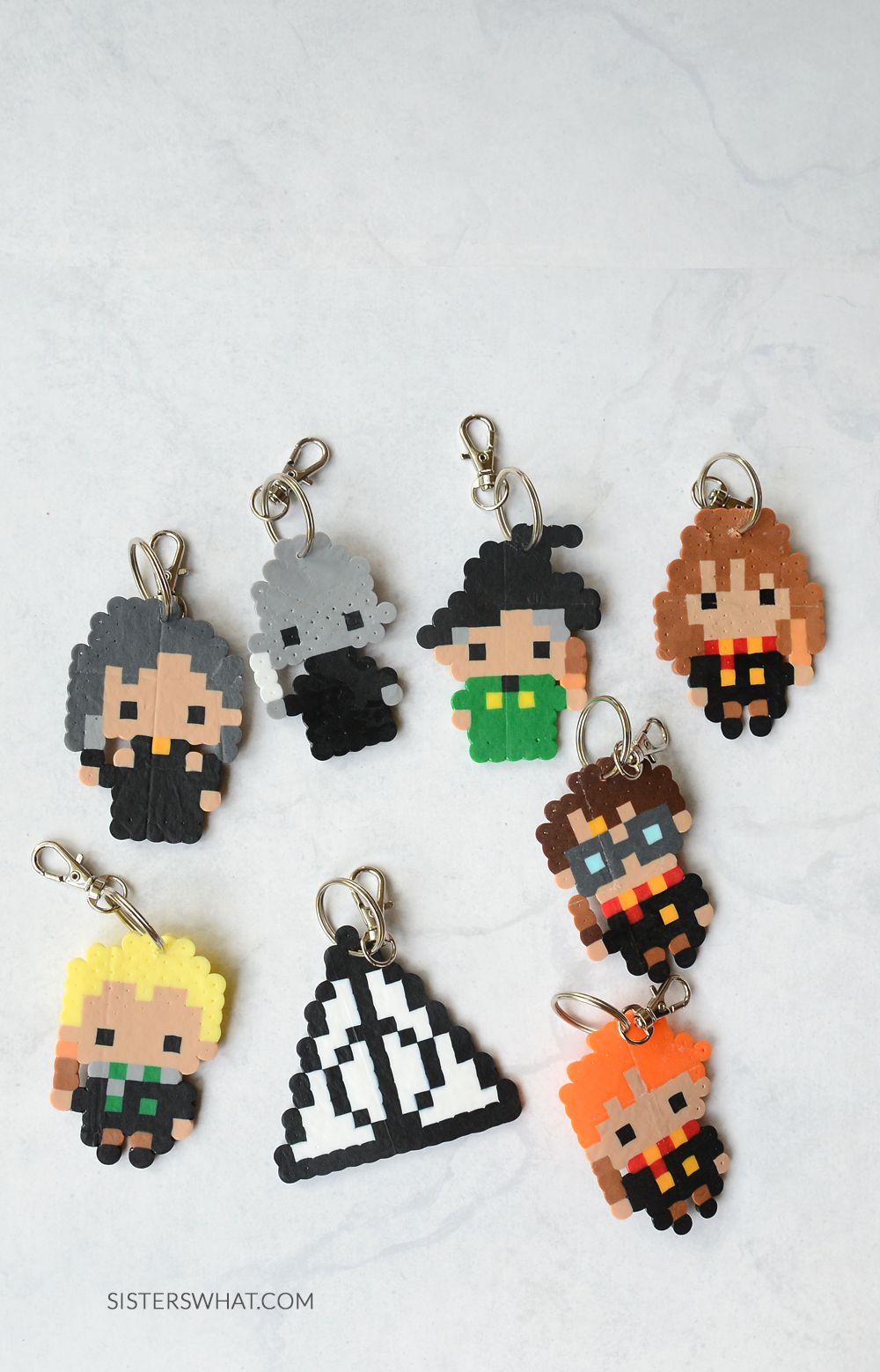 how to make harry potter keychains perler beads