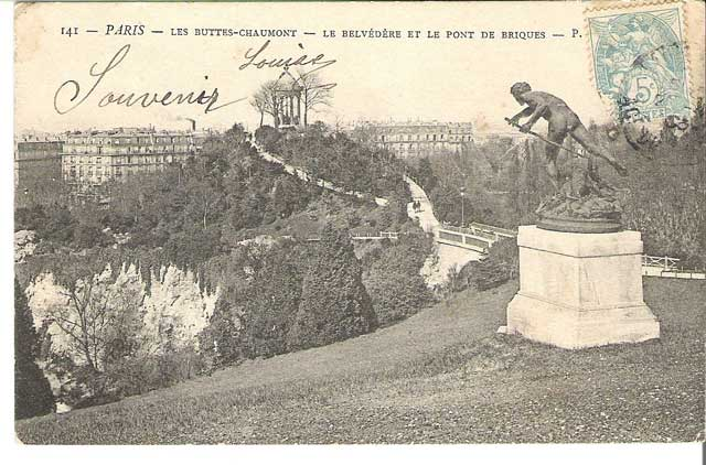 Sculpture in the Paris Park des Les Buttes Chaumont, removed by the Germans on or before 23 December 1941 worldwartwo.filminspector.com