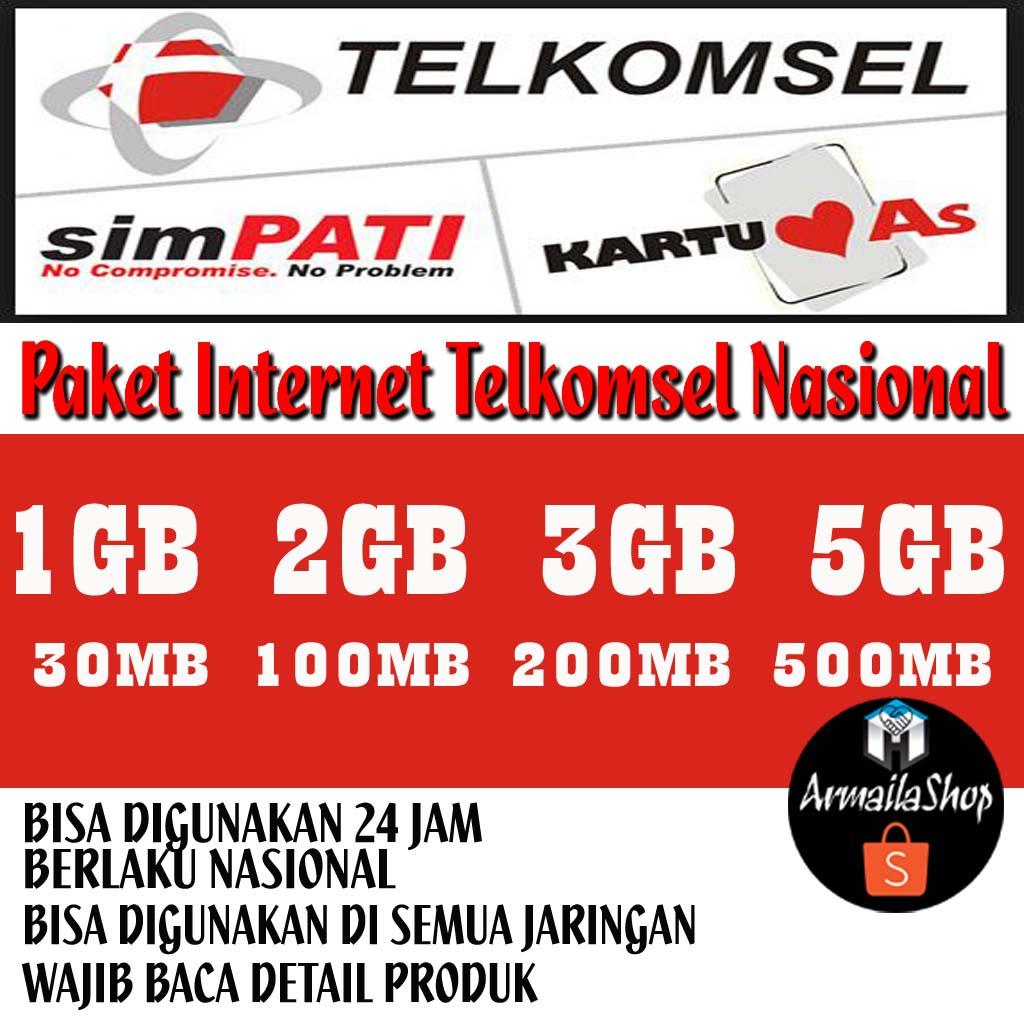 Paket Internet Telkomsel Nasional 2018 Murah Kuota Besar Semua Kartu Paketan 9gb Jaringan Full Service 24 Jam