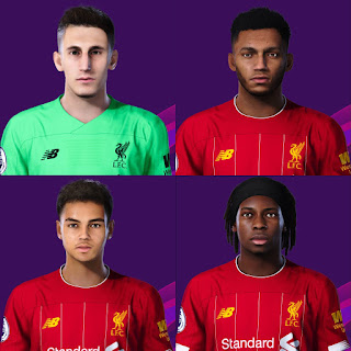 PES 2020 Faces Liverpool Youth Pack by Davidjm08