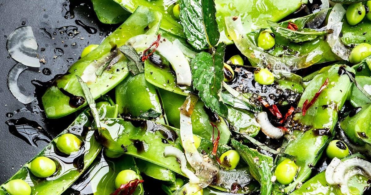 Zuckerschoten-Salat mit frischer Minze