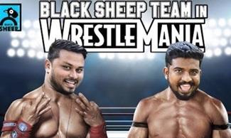 BLACK SHEEP TEAM IN WRESTLEMANIA | PROMO 3 | NAVAYUGA RATHAKANNEER | BLACK SHEEP