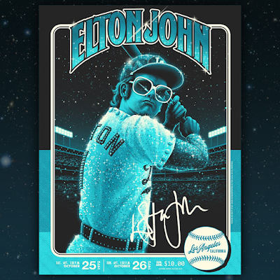 "Elton John ""Los Angeles 1975"" Screen Print by Matt Ryan Tobin x Collectionzz"