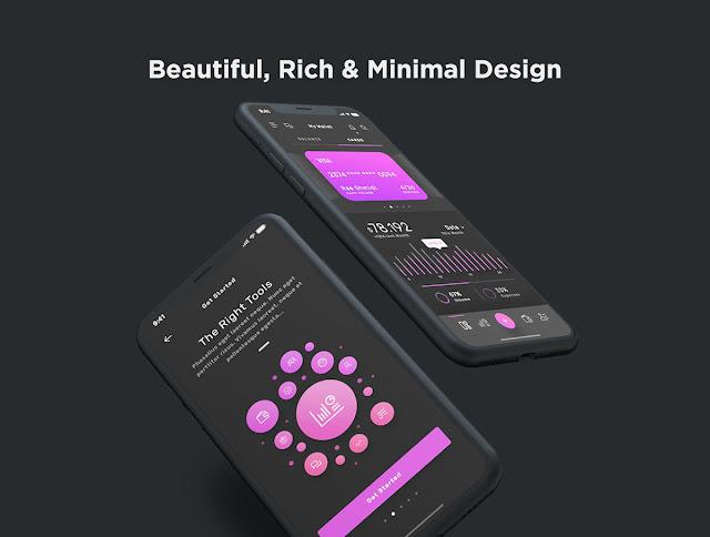 Violett Dashboard Mobile UI Kit.