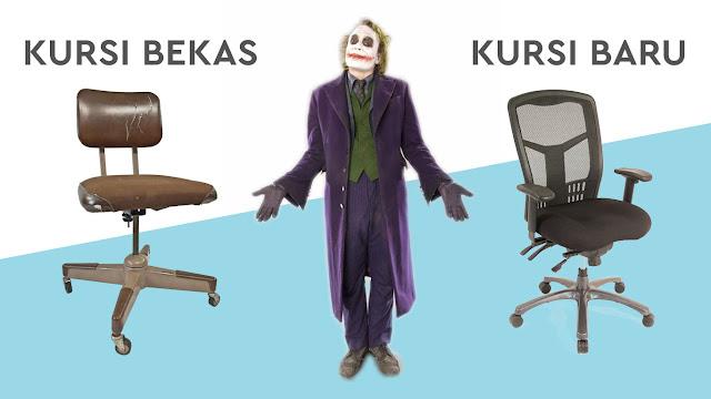 Joker bingung milih kursi kantor