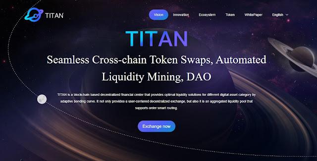 Screenshot Halaman Website TitanSwap (TITAN) Cryptocurrency