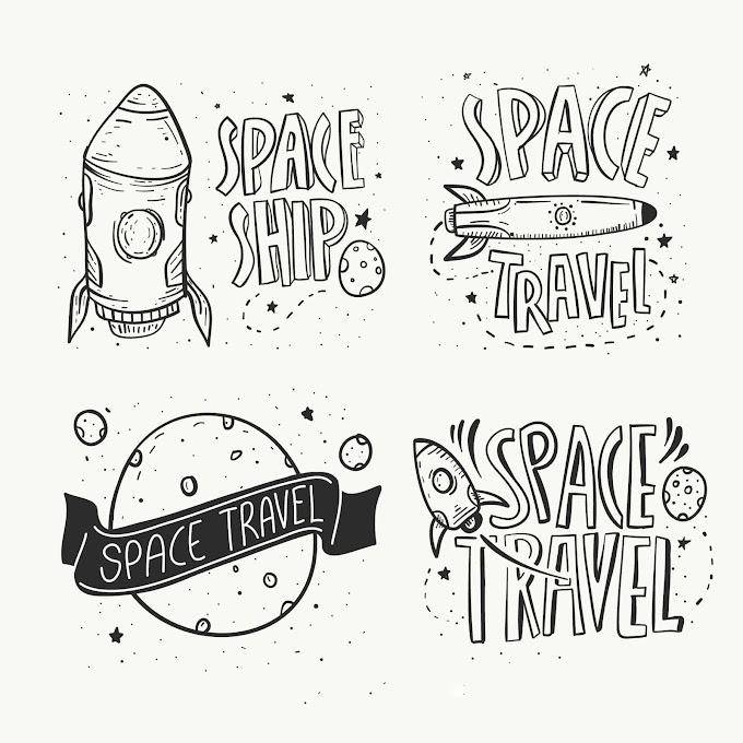Hand Drawn Space Badge