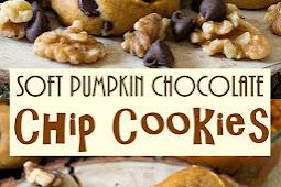 Soft Pumpkin Chocolate Chip Cookies