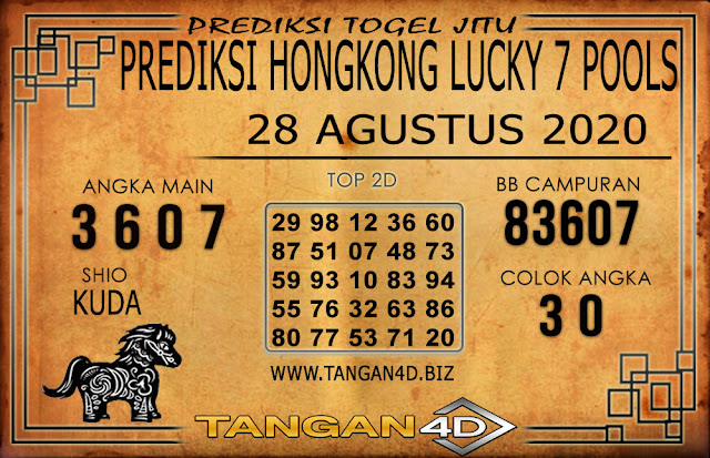 PREDIKSI TOGEL HONGKONG LUCKY 7 TANGAN4D 28 AGUSTUS 2020