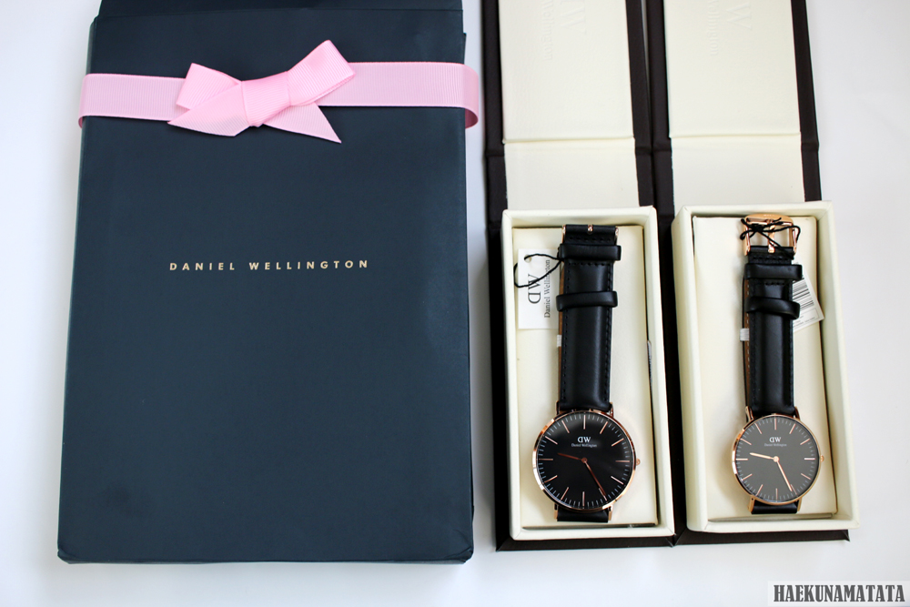 Daniel Wellington Valentine's Day Promotion: Classic Black Rose Gold 36mm and 40mm