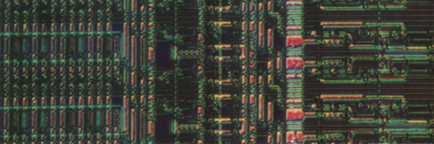 Detail of an NMOS chip