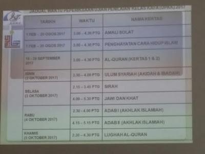 Jadual peperiksaan UPKK 2017 Melaka