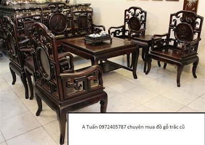 mua bàn ghế gỗ trắc