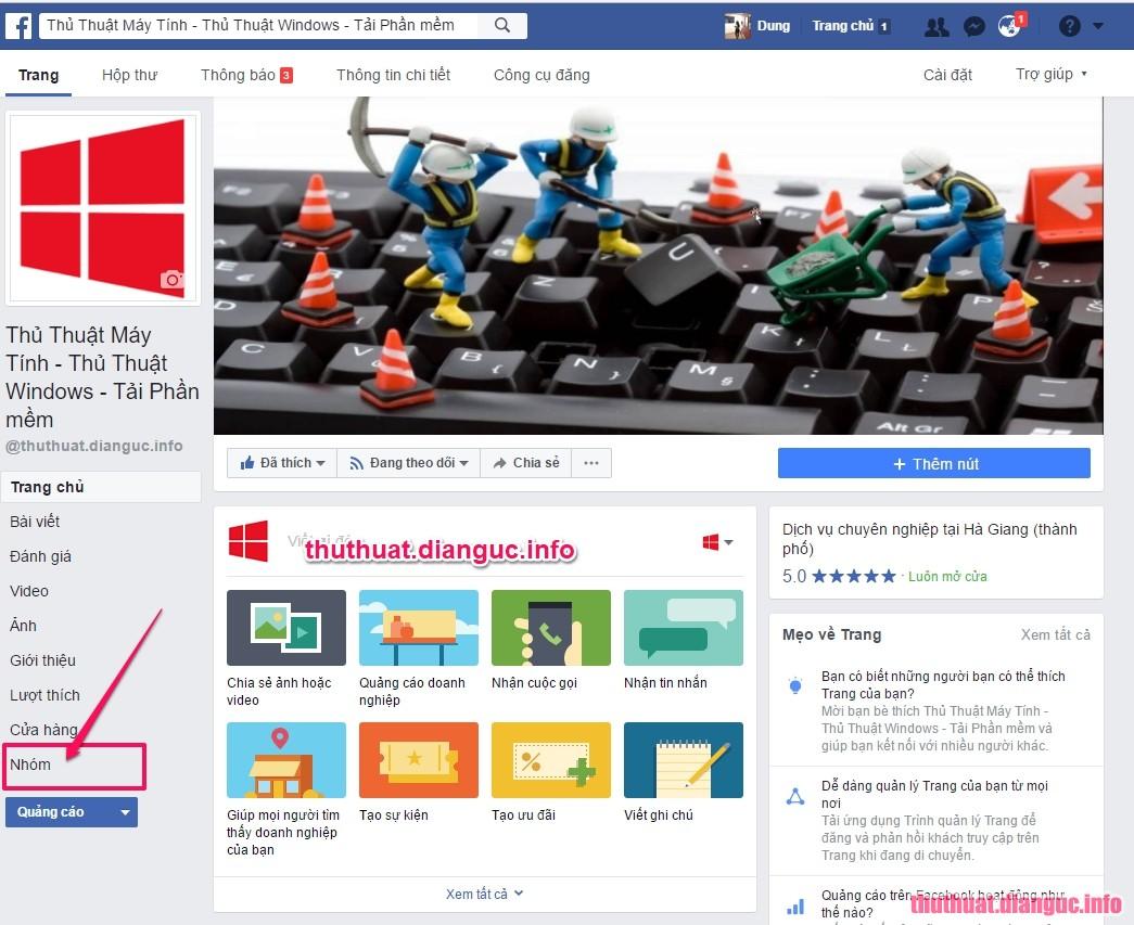 cáchLiên kết page facebook với group