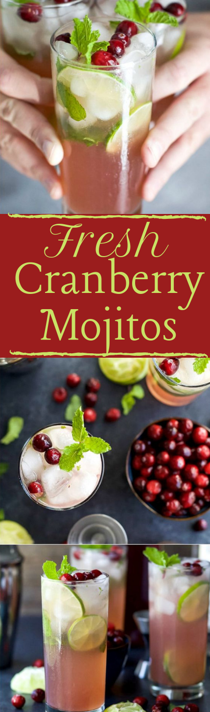 Fresh Cranberry Mojito #recipe #mojito #drink #smoothie #fres
