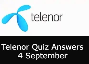 4 September Telenor Quiz Today