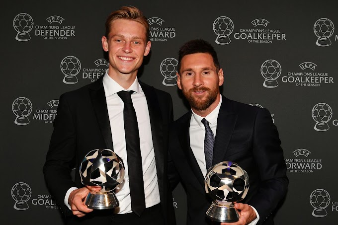 Messi said about De Jong at UEFA Player of the Year award