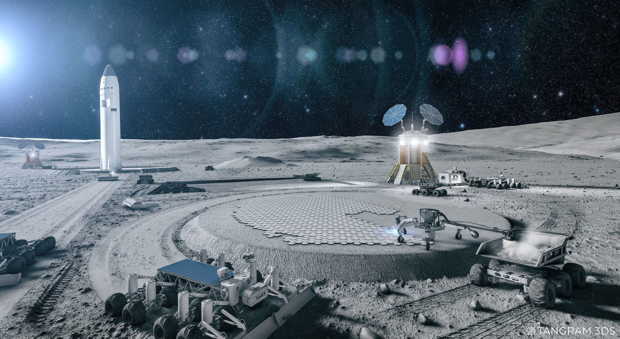 Astroport Space Technologies, awarded a NASA Technology Research contract for lunar construction