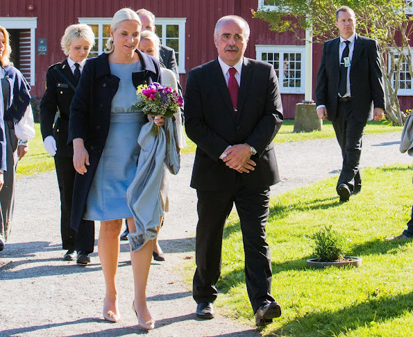 Crown Princess Mette-Marit of Norway attended the opening of the Petter Dass Days