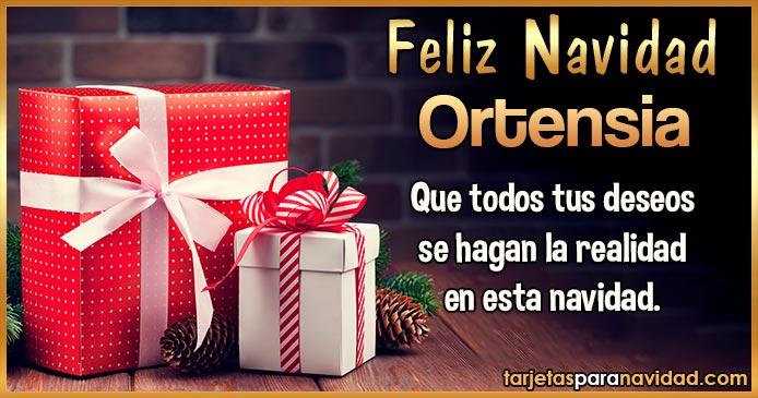 Feliz Navidad Ortensia