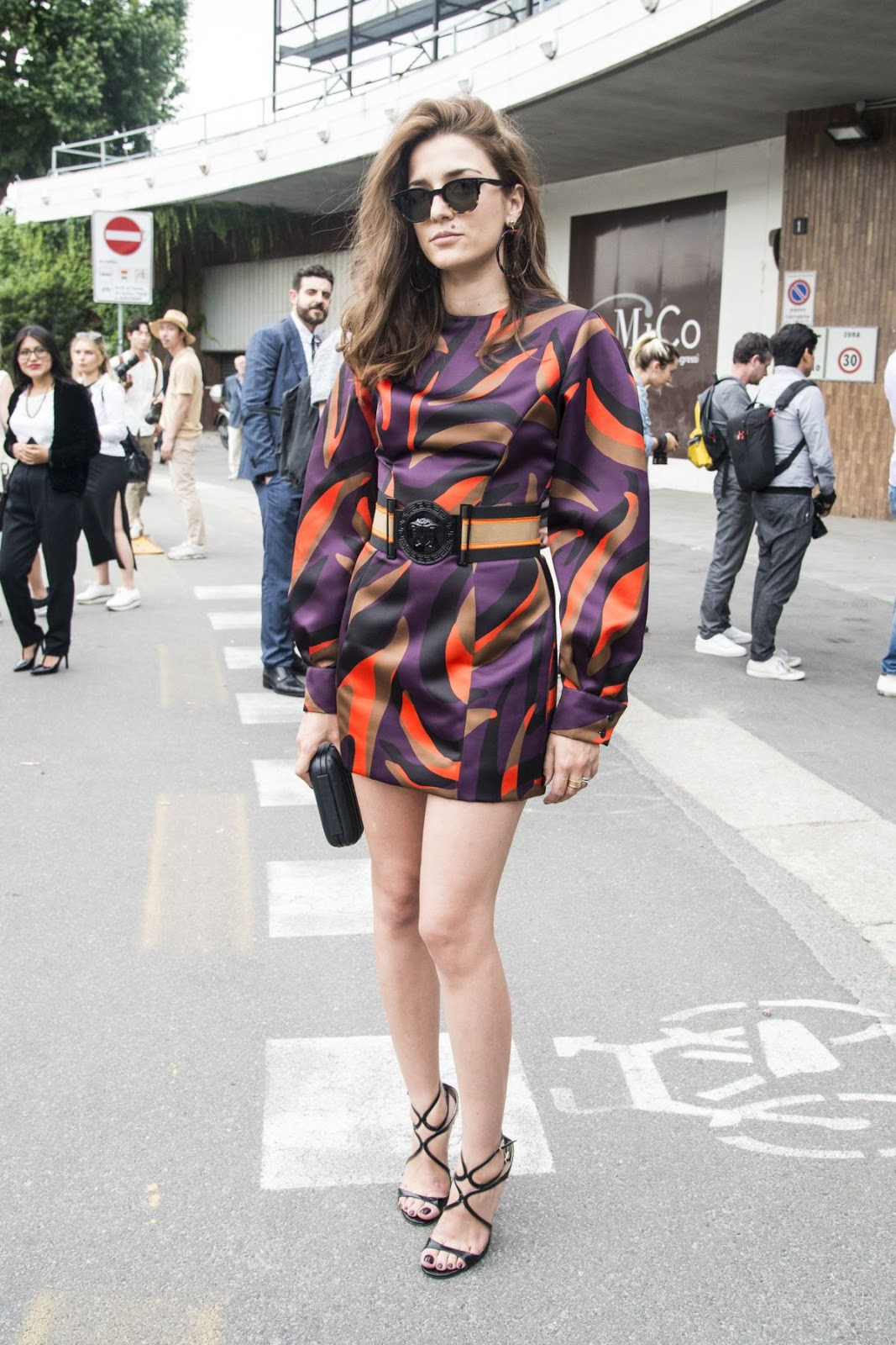 Eleonora Carisi At Versace Fashion Show In Milan
