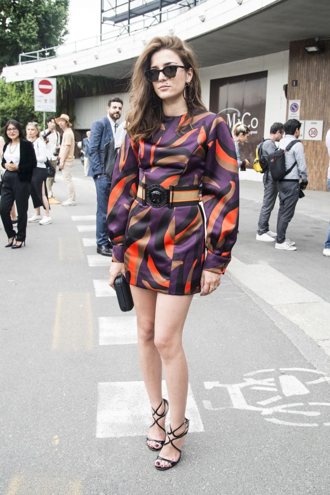 Eleonora Carisi At Versace Fashion Show In Milan